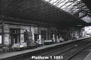 Platform 1 Bletchley. 1951