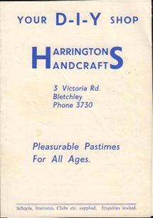 Harrington's Handcrafts sales leaflet