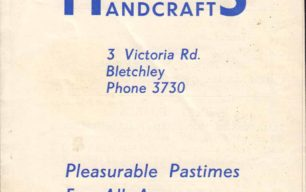 Harrington's Handcrafts sales leaflet
