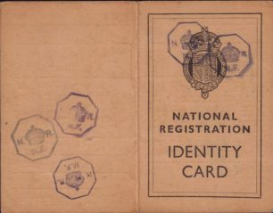 Edward Harrington's Identity Card, 1940