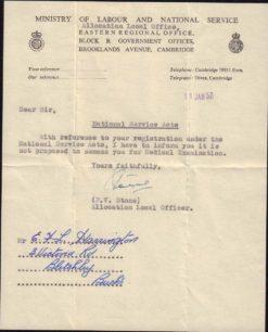 E. Harrington's National Service Medical letter, 1957