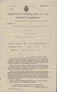 1947 Business Registration
