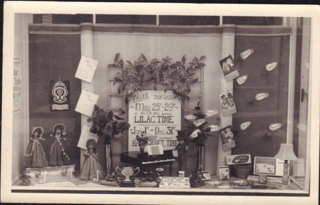 Photo of shop window display for the opera