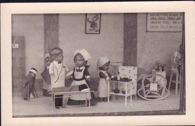 Photo of shop window display - Dolls' Hospital