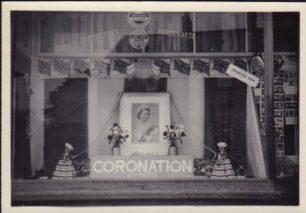 Photo of shop window display (Coronation)