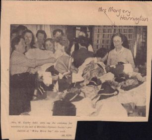 Newspaper image of Margery Harrington