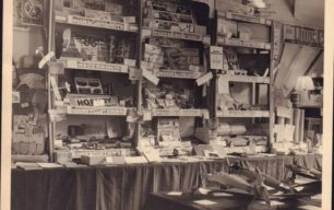 Photo of shop interior with model kits