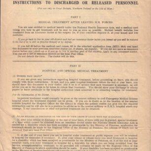Forces Medical paper, 1945