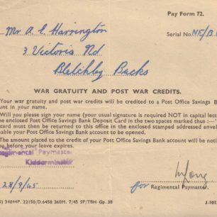 Pay Form 72, 1945