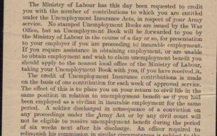 Memo about Unemployment Insurance