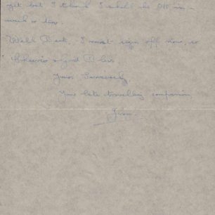 Personal letter from Jim Alderson, 1944