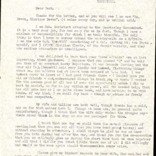 Personal letter from S/Sgt Ray Linley, 1944