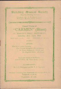 1934 Programme for Carmen