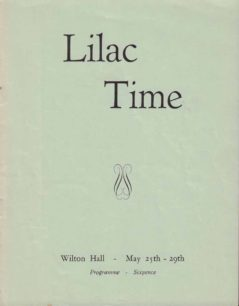 1954 Programme for Lilac Time