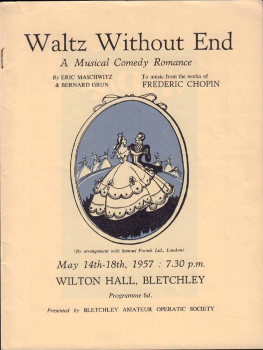1957 Programme for Waltz Without End