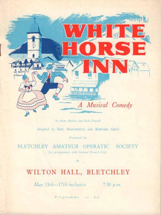 1958 Programme for White Horse Inn