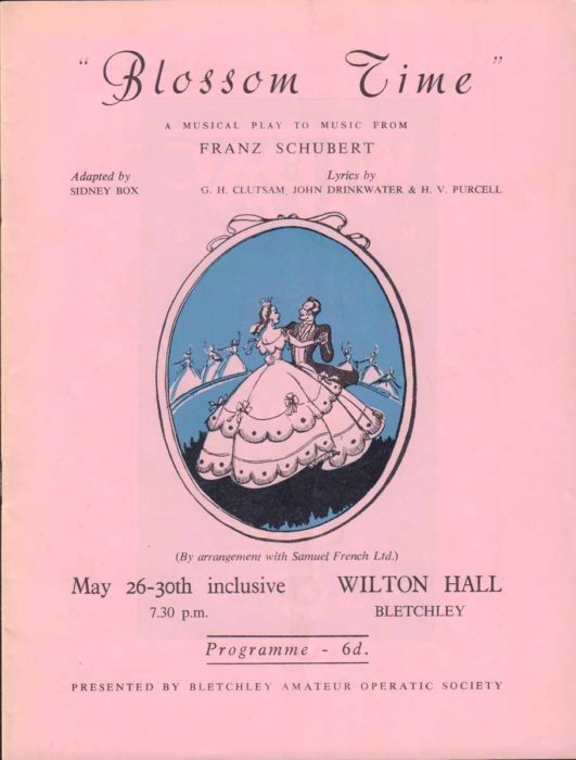 1959 Programme for Blossom Time