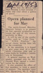 Opera planned for May