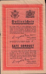 Safe Conduct Pass for German Soldier, 1945