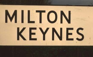 MILTON KEYNES road sign