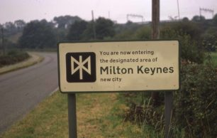Sign for the designated area of Milton Keynes New City