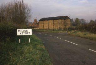 MILTON KEYNES village road sign