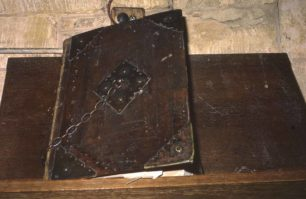 Bible chained to the wall