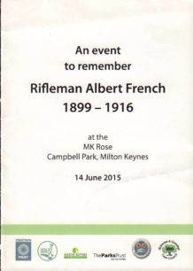 Remembrance for Rifleman Albert French