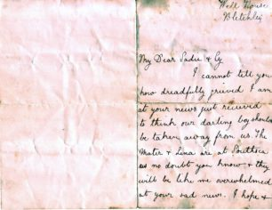 Well House Letters 1898