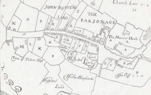 Enlargement of the upper map of The Mannor Of Stanton