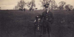 Man & boy in military uniform