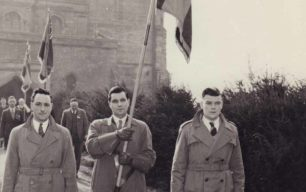 British Legion standard bearers