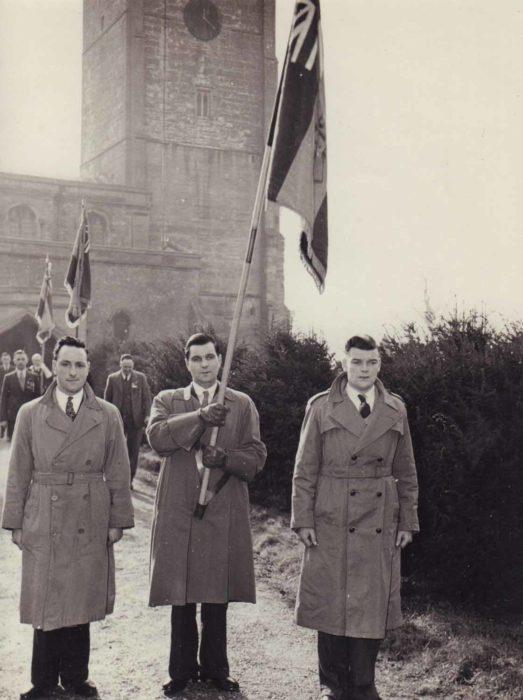 British Legion standard bearers