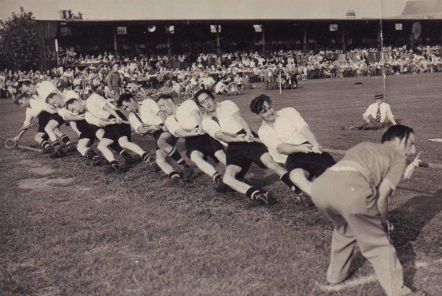 Wolverton Tug-of-War team