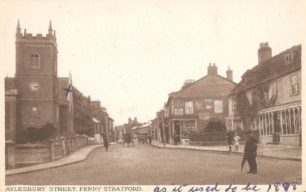 Aylesbury Street, Fenny Stratford - with St Martin's Church