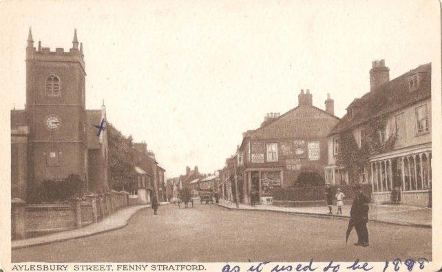 Aylesbury Street, Fenny Stratford - with St Martin's Church
