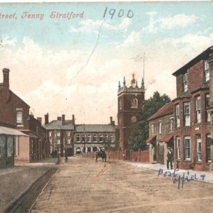 Aylesbury Street, Fenny Stratford - with church and post office