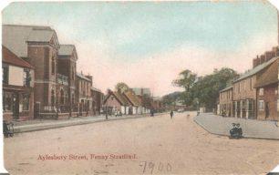 Aylesbury Street, Fenny Stratford - with Spurgeon's Memorial