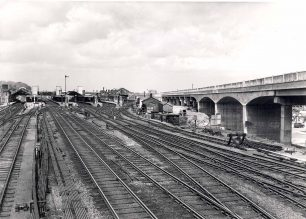 Bletchley Station and the flyover from the south.
