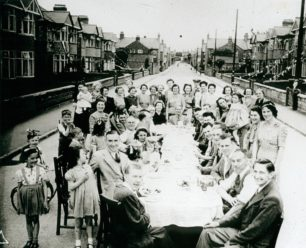 See Fred Bavey's film of a VE Day street party in Wolverton here
