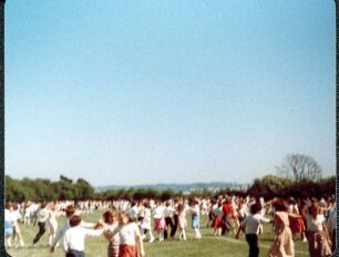 Country Dancing, Middle School, dancers in action  - 1980