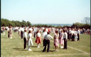 Country Dancing, Middle School, dancers waiting - 1980