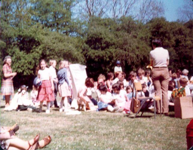 Country Dancing, Middle School, spectators  - 1980