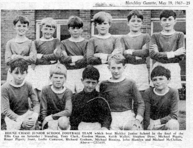 Junior School football team - 1967