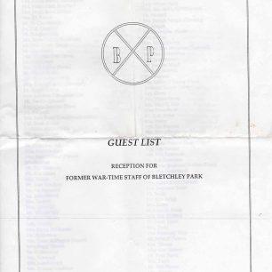 BAHS Reception Guest List