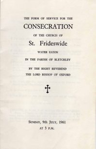 Consecration of the Church of St Frideswide