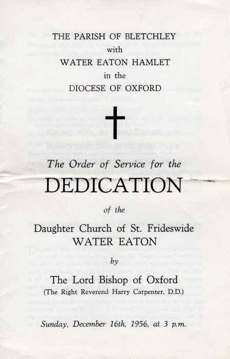 Dedication of the Church of St Frideswide
