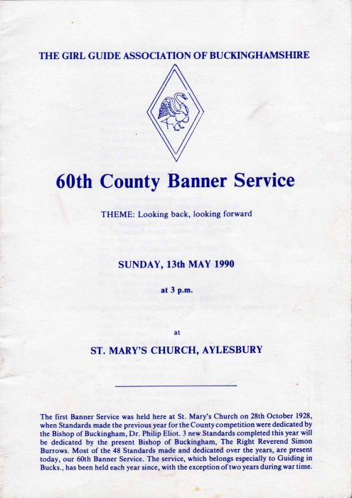 Girl Guides 60th County Banner Service