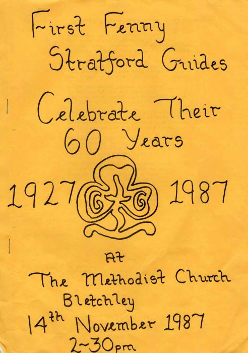 First Fenny Stratford Guides 60 year celebration