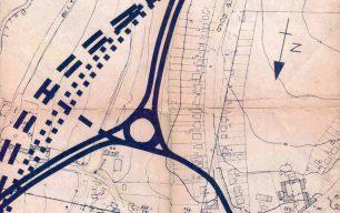 Plan of proposed V8 grid road